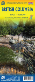 Wegenkaart British Columbia | ITMB | 1: 1,25 miljoen | ISBN 9781771290906