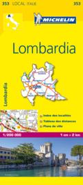 Wegenkaart Lombardije | Michelin nr. 353 | 1:200.000 | ISBN 9782067127159