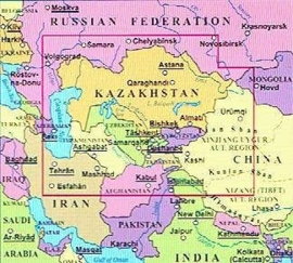Wegenkaart Kazachstan | Gizimap | 1:3 miljoen | ISBN 9789630083157