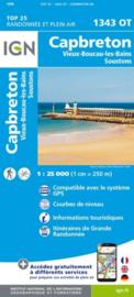 Wandelkaart Capbreton, Vieux-Boucau-les-Bains, Lacs de Souston,St-Vincent-de-Tyrosse | Franse Atlantische Kust | IGN 1343OT - IGN 1343 OT | ISBN 9782758542636