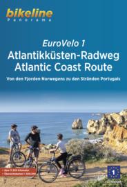 FietsgidsEurovelo 1 - Atlantikküsten-Radweg Atlantic Coast Route | Bikeline | ISBN 9783850009270