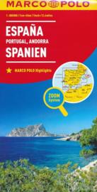 Wegenkaart Spanje, Portugal & Andorra | Marco Polo | 1:800.000| ISBN 9783829738453