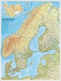 Wandkaart Scandinavië en IJsland | Norstedts | 1:2 miljoen | ISBN 9789113055480