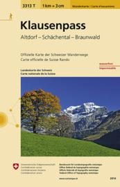 Wandelkaart  Klausenpass | Bundesamt 3313T |  ISBN 9783302333137