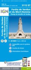 Wandelkaart Forêts de Verdun et du Mort-Homme | IGN 3112ET - IGN3112 ET | 1:25.000 | ISBN 9782758551430