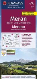 Fietskaart Meran - Bozen Umgebung | Kompass 3414 | 1:70.000 | ISBN 9783990446942