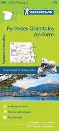 Fietskaart - wegenkaart  Spaanse Pyreneeën Oost / Andorra - Pyrénées Orientales | Michelin 146  | 1;150.000 | ISBN 9782067218161