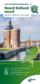 Fietskaart Noord-Holland Noord | ANWB fietsknooppuntenkaart 14 | 1:100.000 | ISBN 9789018046873