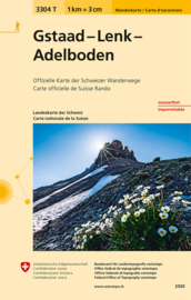 Wandelkaart  Gstaad-Lenk-Adelboden | Bundesamt 3304T |  ISBN 9783302333045