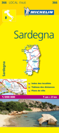 Wegenkaart Sardinia nr. 366 | Michelin | 1:200.000 | ISBN 9782067127289
