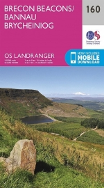 Wandelkaart Ordnance Survey | Brecon Beacons 160 | ISBN 9780319262580