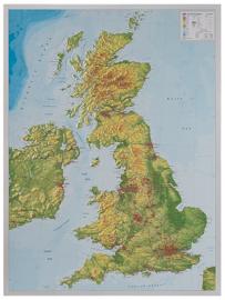 Wandkaart Groot Brittannië 3D Relief | GeoRelief | 1:1,4 miljoen | ISBN 4280000664983
