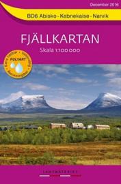 Wandelkaart Abisko: Kebnekaise : Narvik Fjällkarta | Lantmateriet BD06 | ISBN 9789158895843