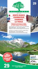 Wandelkaart Monte Bianco - Courmayeur - Chamonix - La Thuile | Fraternali editore 29 | 1:25.000 | ISBN 9788897465461