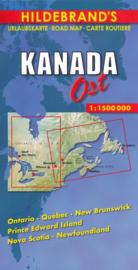 Wegenkaart  Canada East | 1:1,5 miljoen | Hildebrand | ISBN 9783889892775