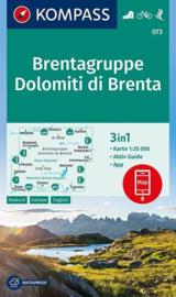 Wandelkaart Brenta / Dolomiti di Brenta | Kompass 073 | 1:25.000 | ISBN 9783990443866