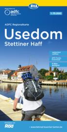 Fietskaart Usedom - Stettiner Haff | ADFC - BVA Regionalkarte | 1:75.000 | ISBN 9783969900734