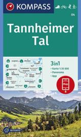 Wandelkaart Tannheimer Tal | Kompass 04 | 1:35.000 | ISBN 9783990446317