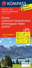 Fietskaart  Füssen - Garmisch-Partenkirchen - Ammergauer Alpen | Kompass 3127 | 1:70.000 | ISBN 9783850263375