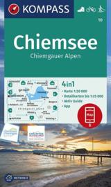 Wandelkaart Chiemsee , Simssee |  Kompass 10 | 1:50.000 | ISBN 9783990447215