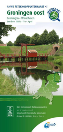 Fietskaart Groningen Oost | ANWB fietsknooppuntenkaart 4 | 1:100.000 | ISBN 9789018046781