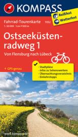 Fietskaart Ostseeküstenradweg 1 | Kompass 7052 | 1:50.000 | ISBN 9783850269742
