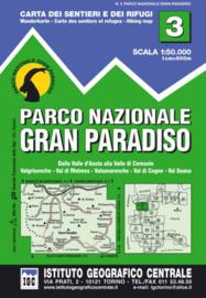 Wandelkaart Il Parco Nazionale Del Gran Paradiso | IGC nr. 3 | 1:50.000 - ISBN 9788896455036