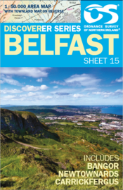 Wandelkaart Belfast | Discovery Northern Ireland 15 - Ordnance survey | 1:50.000 | ISBN 9781905306879