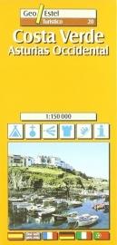 Wegenkaart - Fietskaart Costa Verde Asturias West | GeoEstel No. T020 | 1:150.000 | ISBN 9788495788337