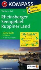 Wandelkaart Rheinsberger Seengebiet - Ruppiner Land | Kompass 743 | ISBN 9783850265089