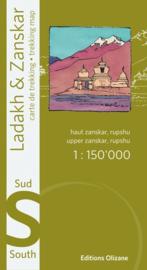 Trekkingmap India - Ladakh Zanskar - Zuid | Editions Olizane| 1;150.000 | 9782880864149