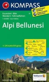 Wandelkaart Alpi Bellunesi | Kompass 77 | 1:50.000 | ISBN 9783850264150