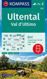 Wandelkaart Ultental - Val d'Ultimo | Kompass 052 | 1:25.000 | ISBN 9783990447451