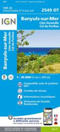 Wandelkaart Banyuls sur mer  |  IGN 2549OT - IGN 2549 OT | ISBN 9782758542803