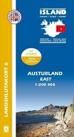 Wegenkaart - Fietskaart Austurland / Oost IJsland 06 | 1:200 000 | Mal og menning | ISBN 9789979333814