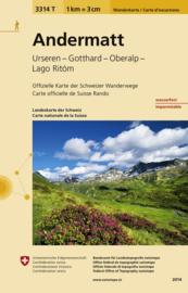 Wandelkaart Andermatt (Surselva)| Bundesamt 3314T |  ISBN 9783302333144