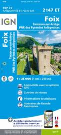 Wandelkaart Foix - Tarascon sur Ariege, Ussat, les Monts-d`Olmes | Pyreneeën |  IGN 2147ET - IGN 2147 ET