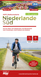 Fietskaart Nederland Zuid | ADFC - BVA | 1:150.000 | ISBN 9783870739478