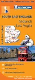 Landkaart - wegenkaart Southeast England - Zuid oost Engeland - Kent | Michelin 504 |  1:400.000 | ISBN 9782067183322