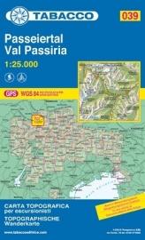 Wandelkaart Val Passiria - Passeiertal - Dolomieten | Tabacco 39 | 1:25.000 | ISBN 9788883150395