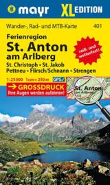 Wandelkaart Lechtaler Alpen en Verwall XL | Walter Mayr 401 | 1:25.000 | ISBN 9783850264310