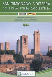 Wandelkaart Volterra / San Gimignano - Toscane   Global Map   1:25.000   ISBN 9788833032665