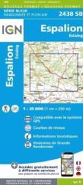 Topo-, wandelkaart Espalion / Estaing |  IGN 2438SB | ISBN 9782758535584