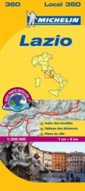 Wegenkaart Lazio nr. 360   Michelin   1:200.000   ISBN 9782067127227