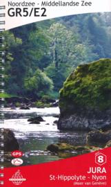 Wandelgids GR5 : Elzas / Jura - van St. Hippolyte  naar Nyon   De Wandelende Cartograaf   ISBN 9789083086958