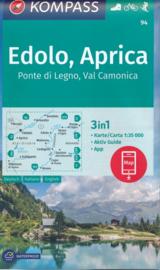 Wandelkaart Edolo, Aprica | Kompass 94 | 1:35.000 | ISBN 9783990447093