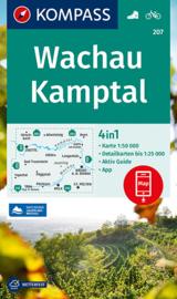 Wandelkaart Wachau Kamptal | Kompass 207 | 1:50.000 | ISBN 9783991212676