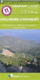 Wandelkaart Roussillon - Collioure-Cadaqués - Côte Vermeile  (Frankrijk - Pyreneeen) | Rando Editions 11 | ISBN 9782344021316