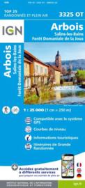 Wandelkaart Arbois, Salins-les-Bains, Foret Dominiale de la Joux |  Jura |  IGN 3325OT - IGN 3325 OT | ISBN 9782758545545