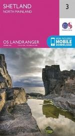 Wandelkaart Shetland, North Mainland | Ordnance Survey 3 | ISBN  9780319261019